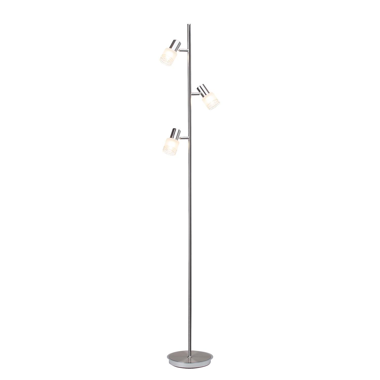 LED-Standleuchte Lea 3-flammig ● Silber Metall- verchromt- Brilliant A++