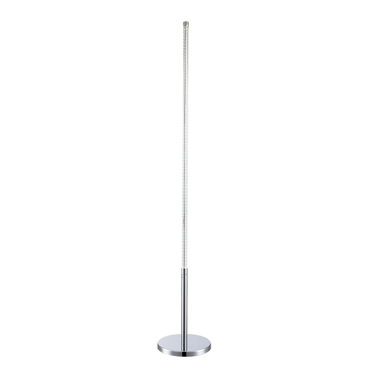 LED-Stehleuchte 1-flammig ● Silber Metall- verchromt- Globo Lighting A+