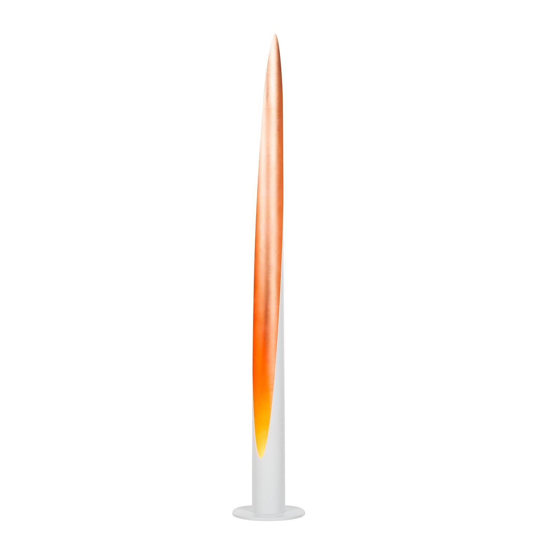 LED-Stehleuchte Lurimas ○ Metall ○ Weiß / Blattkupfer ○ 1-flammig ...