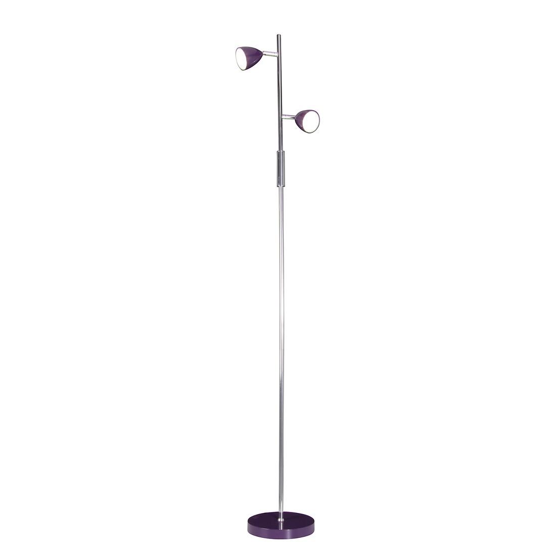 LED Stehleuchte Oskar ● Metall ● Violett- Näve