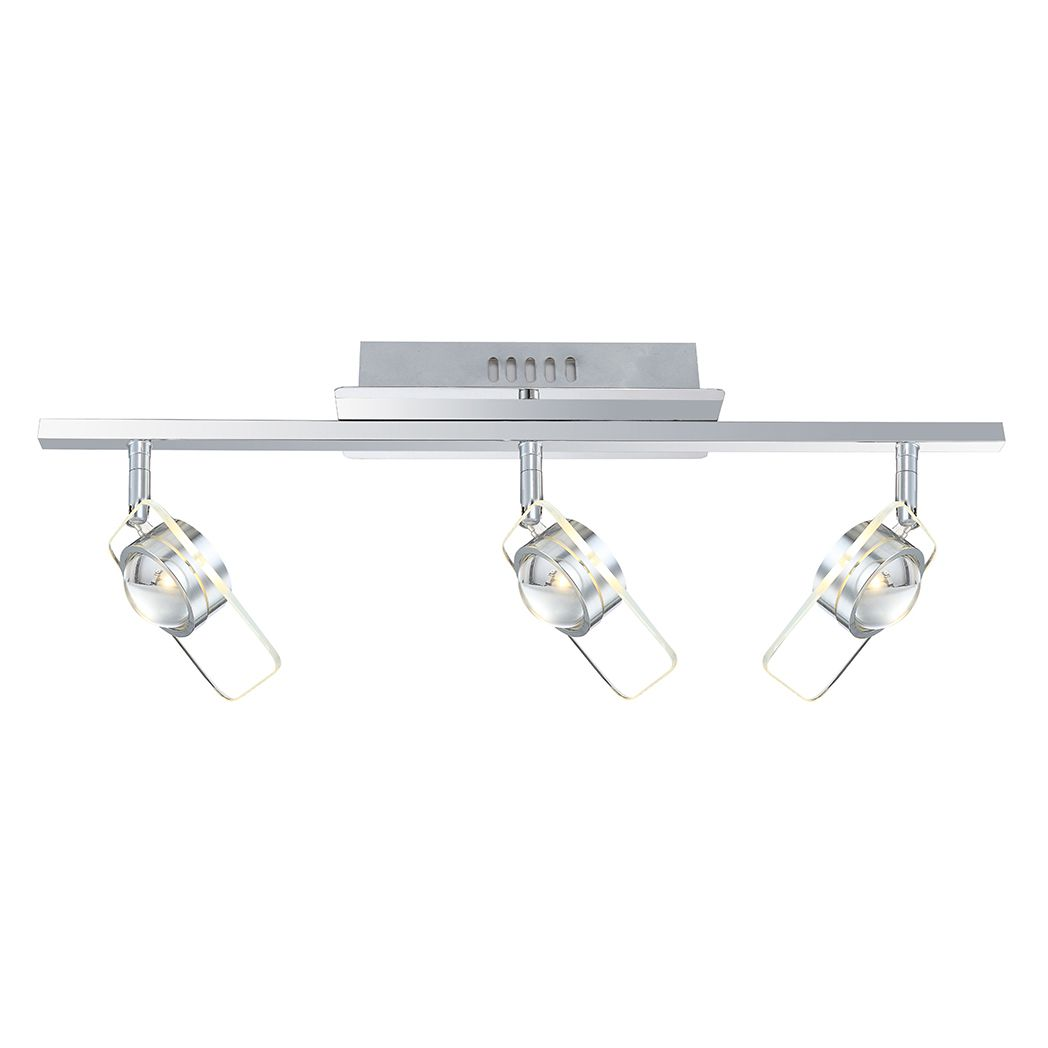 LED Strahler Glacier ● Metall ● Silber ● 3-flammig- Lux A+