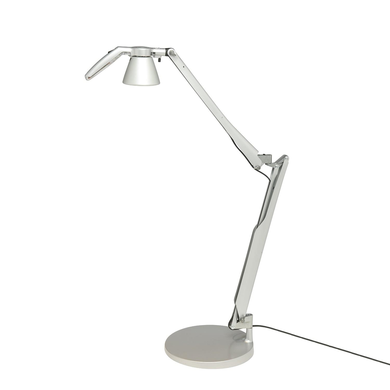 LED-Tischleuchte Fortebraccio mit Reflektor ● Polycarbonat ● Grau- Luceplan