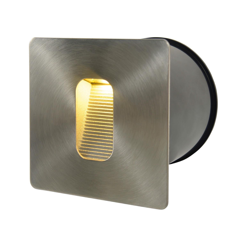 EEK A+, LED-Wandeinbaustrahler III 1-flammig - Grau Aluminium, Näve