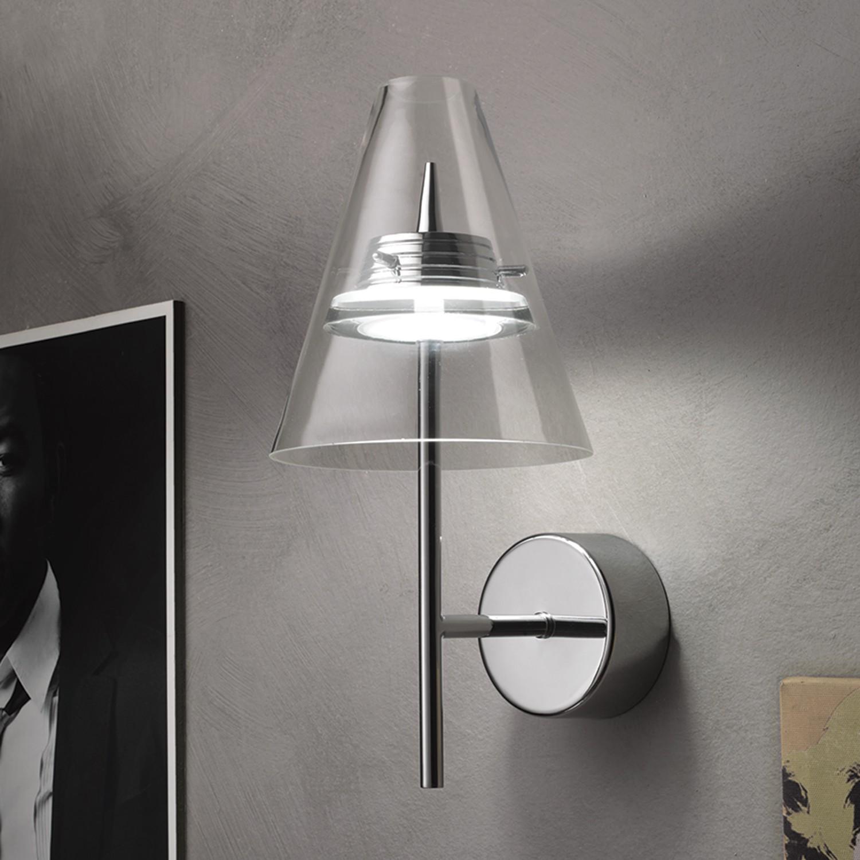 LED-Wandleuchte Capri by Micron ● Glas- Lampadina A+