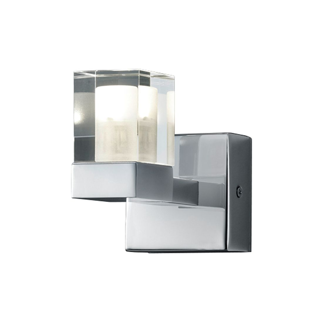 EEK A+, LED-Wandleuchte - Metall - Chrom - 1-flammig, Lux