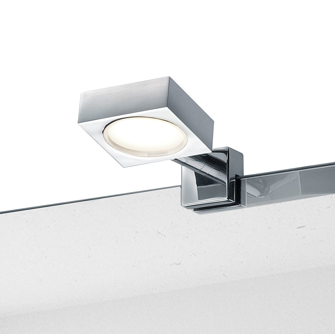LED-Wandleuchte ● Metall ● Chrom ● 1-flammig- Lux A+