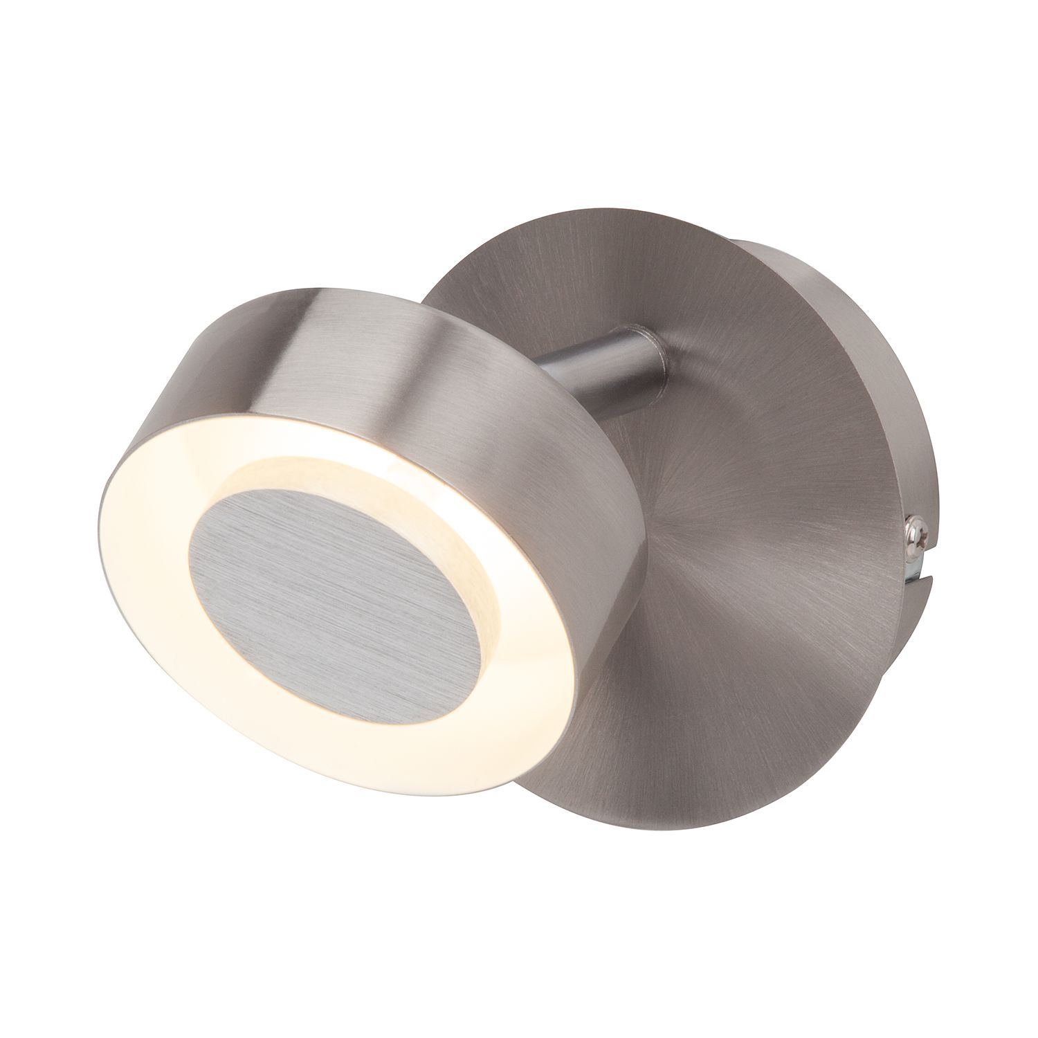 LED-Wandleuchte Orban 1-flammig ● Metall Silber- Brilliant A+