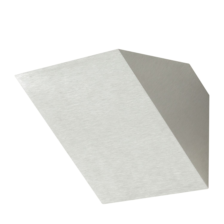 LED-Wandleuchte Oregon ● Aluminium ● Silber- Lampadina A+