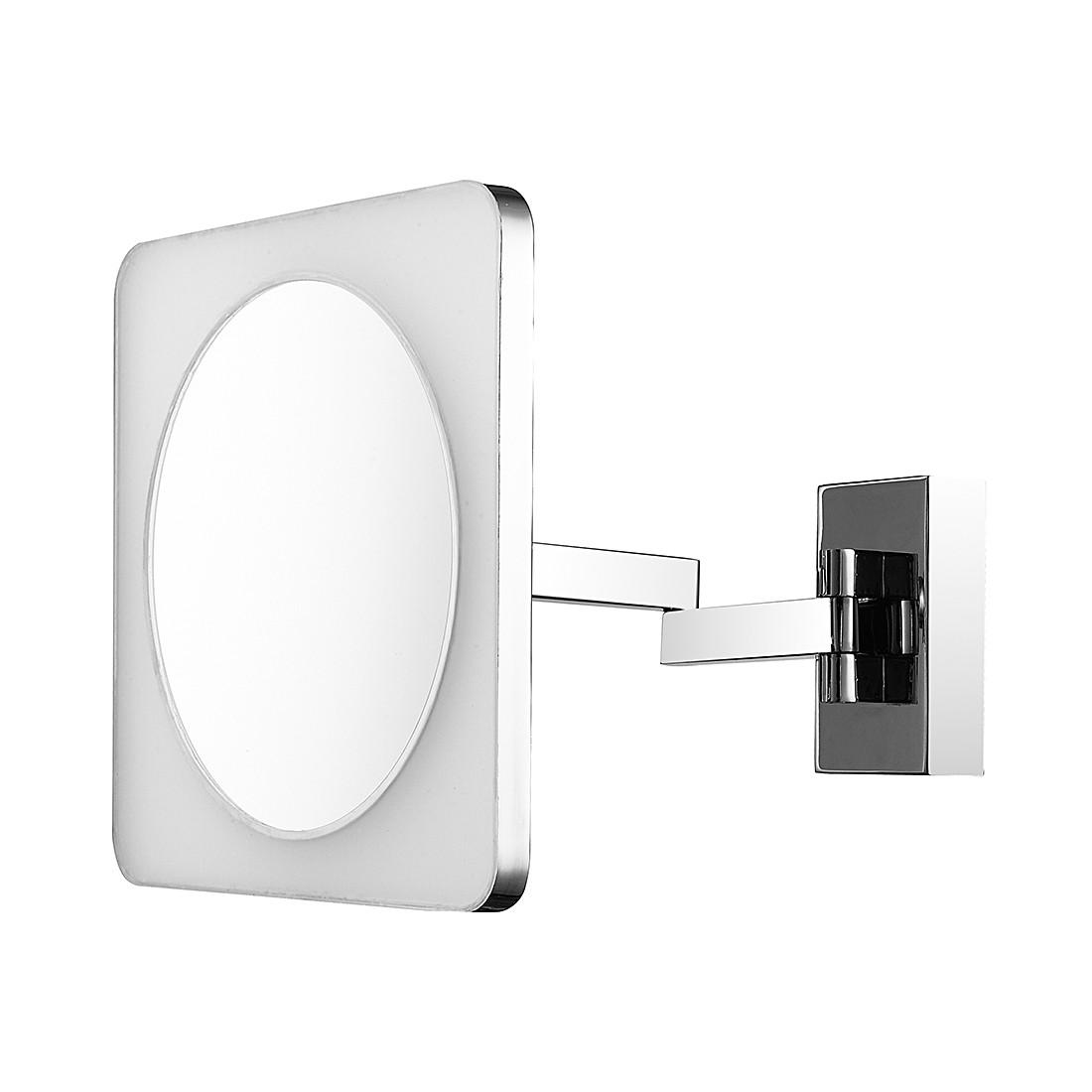 LED Wandspiegel Bagno ● Welllicht ● Metall/Spiegelglas ● 1-flammig- Sorpetaler A+