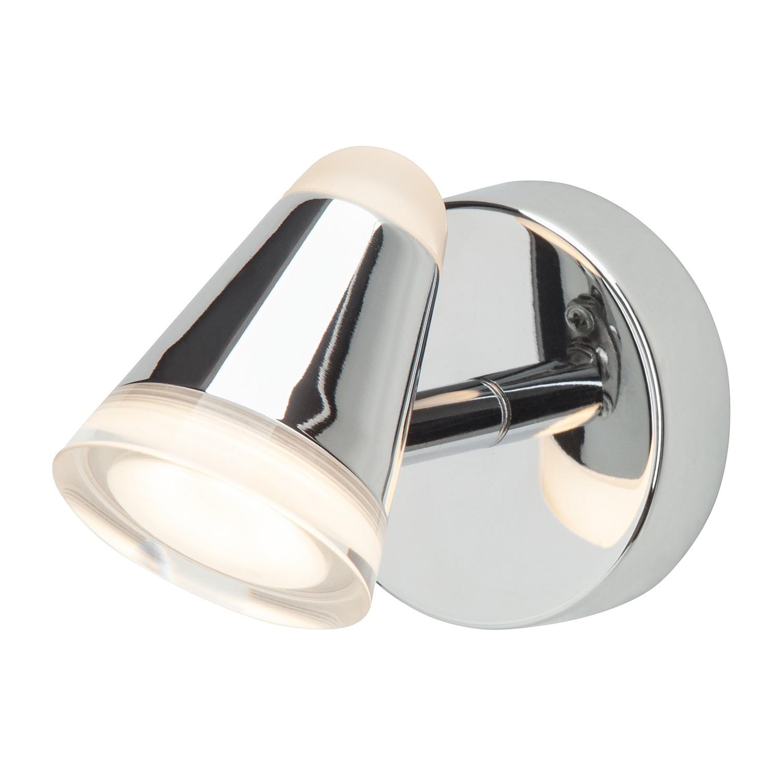 LED-Wandspot Conic 1-flammig ● Silber Metall- verchromt- Brilliant A+