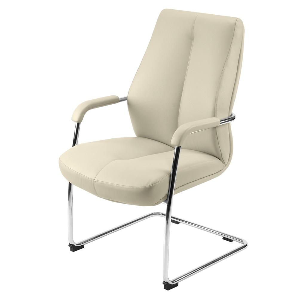 Lederstuhl Siena – Kunstleder – Weiß, Homedreams kaufen