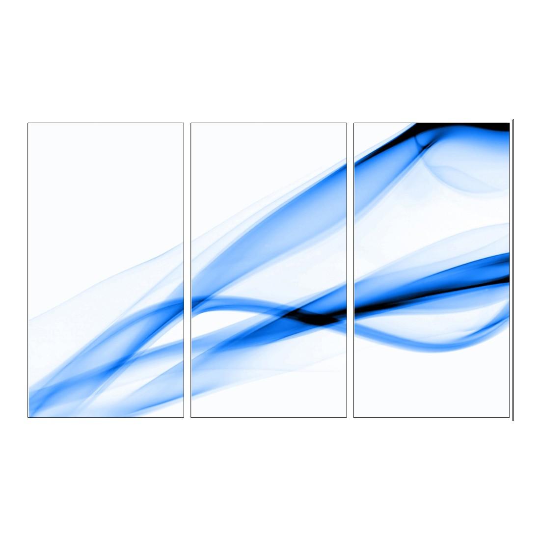 Leinwandbild Abstrakt Blau – 120 x 80cm, Gallery of Innovative Art günstig
