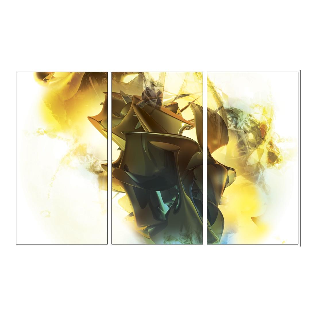 Leinwandbild Abstrakt Gelb – 120 x 80cm, Gallery of Innovative Art günstig kaufen