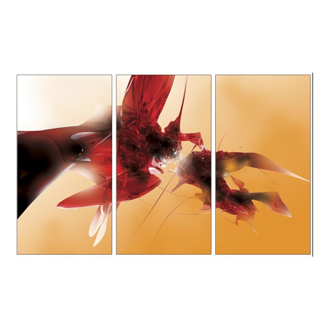 Leinwandbild Abstrakt Rot – 120 x 80cm, Gallery of Innovative Art jetzt bestellen