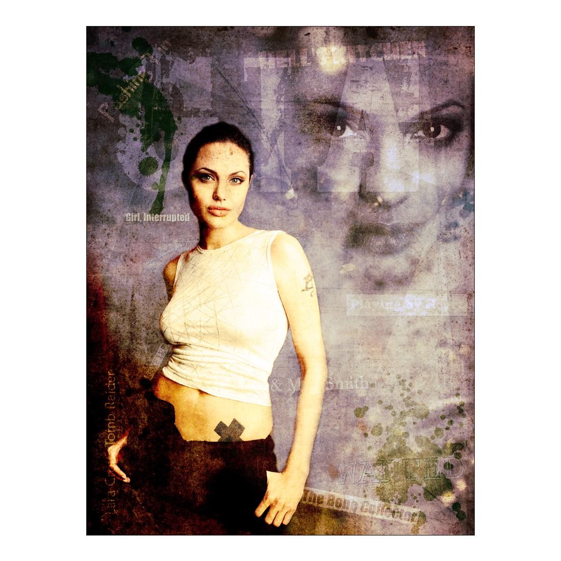 Leinwandbild Angelina Jolie I – 100 x 75cm, Gallery of Innovative Art günstig bestellen