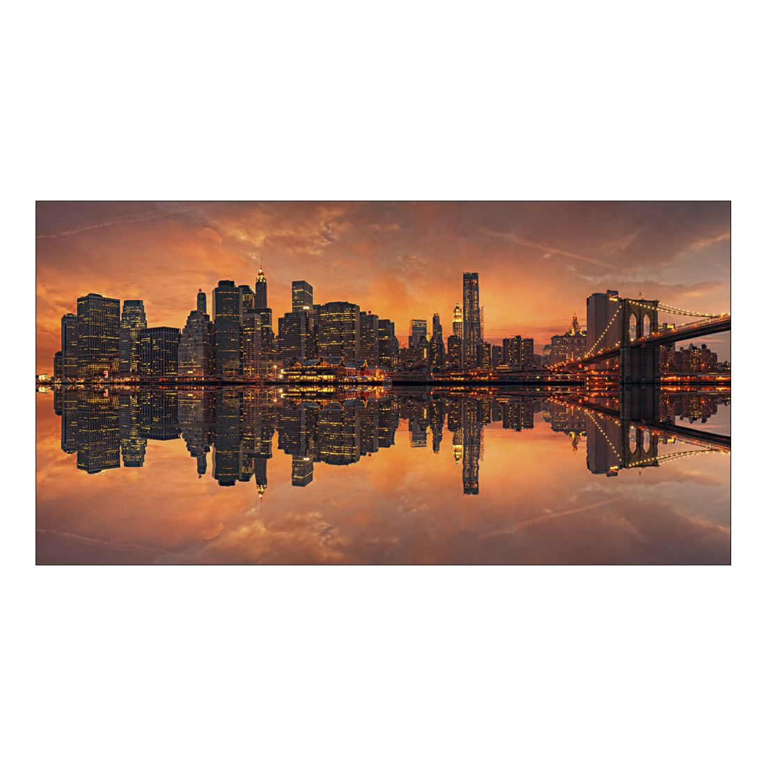 leinwandbild beautiful new york sunset abmessung 100 x 50 cm gallery of innovative art g nstig. Black Bedroom Furniture Sets. Home Design Ideas