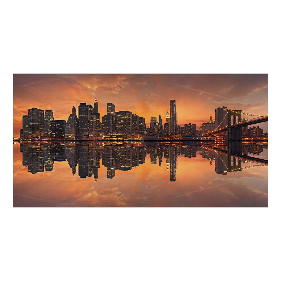 leinwandbild beautiful new york sunset abmessung 100 x 50 cm gallery of innovative art g nstig. Black Bedroom Furniture Sets. Home Design Ideas