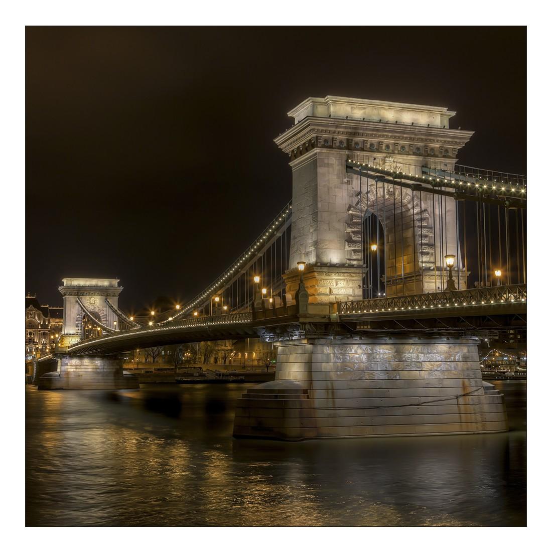 Leinwandbild BUDAPEST BRIDGE – Abmessung 100 x 75 cm, Gallery of Innovative Art jetzt kaufen