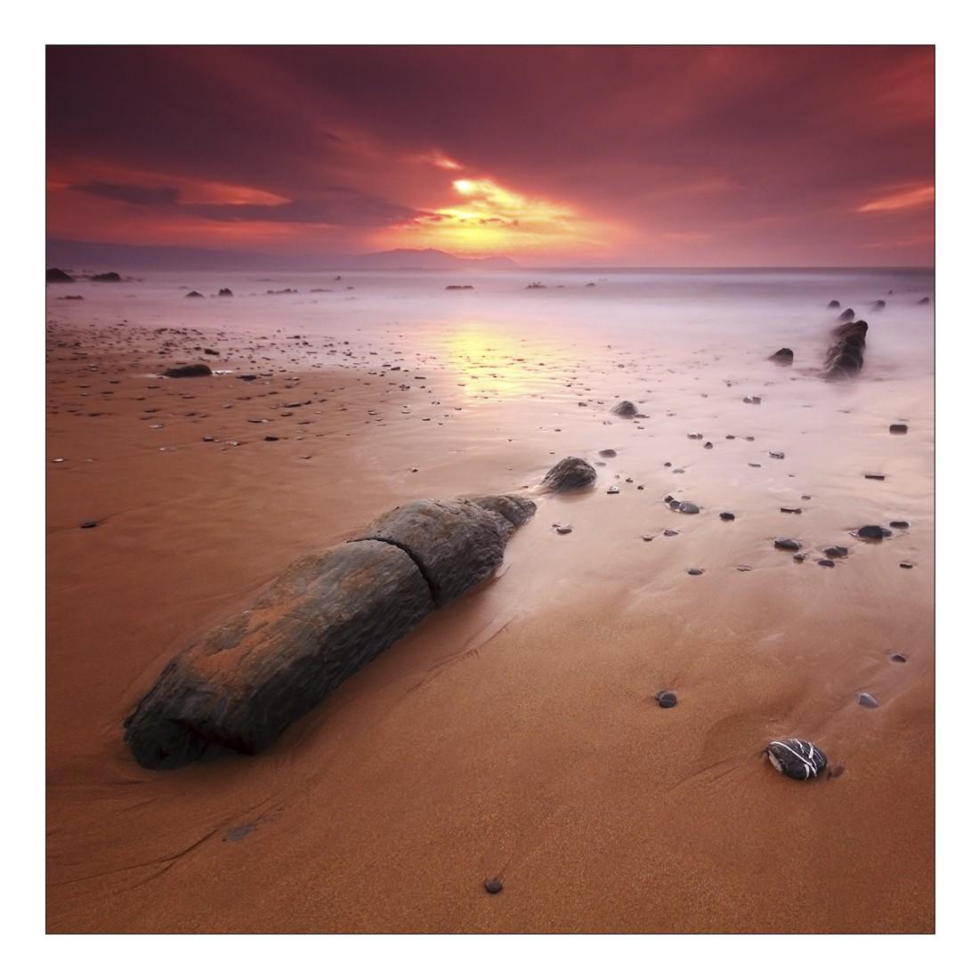 Leinwandbild BURNING SKY BEACH – Abmessung 80 x 80 cm, Gallery of Innovative Art günstig kaufen