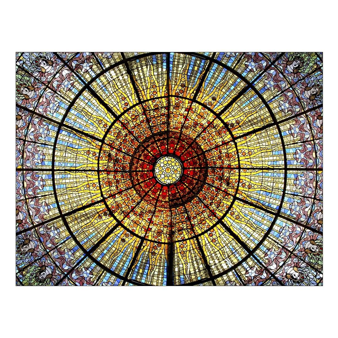Leinwandbild COLOURFUL CHURCH ROOF – Abmessung 100 x 75 cm, Gallery of Innovative Art günstig