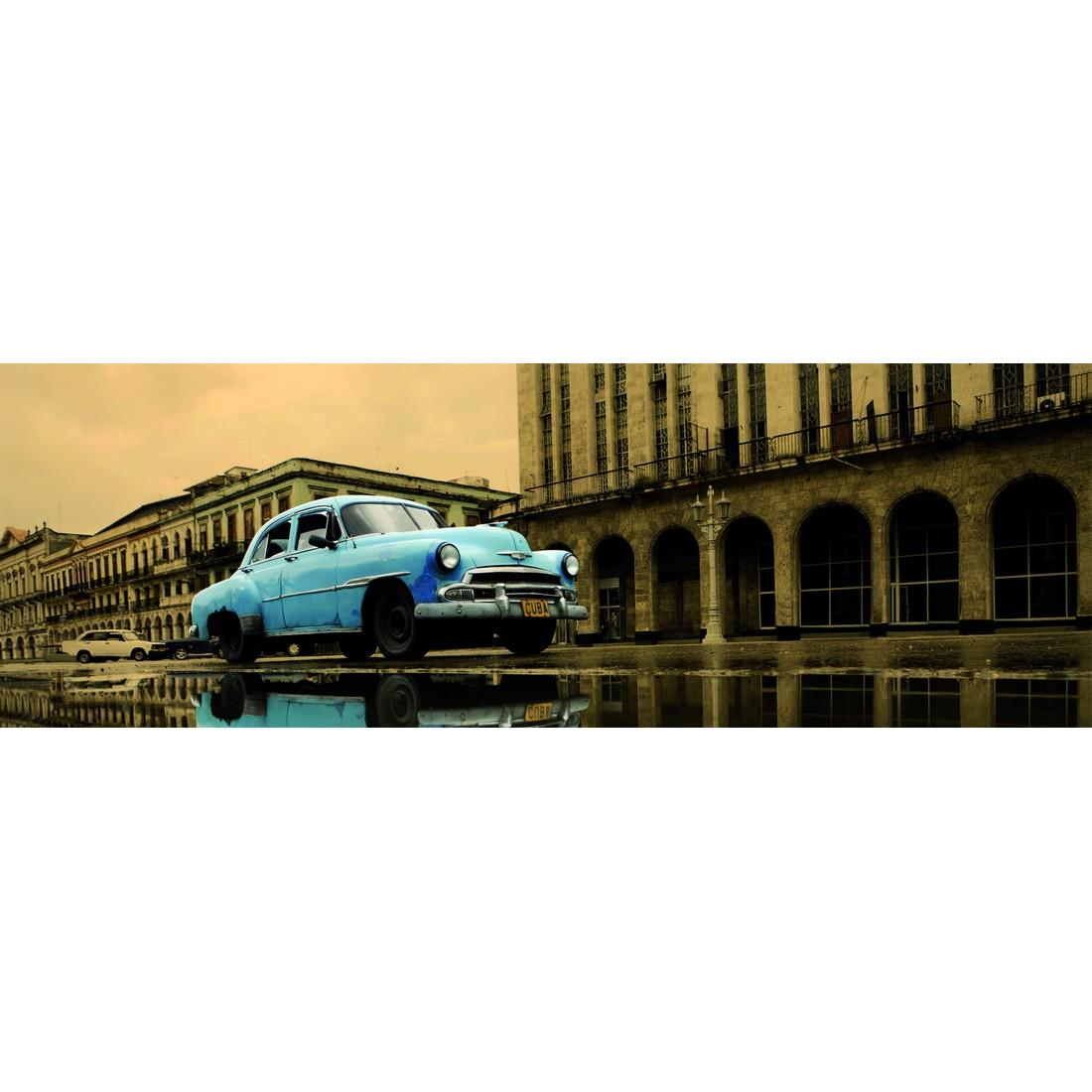 Leinwandbild Cuba Blue – Schwarz, Weiss, Bönninghoff günstig