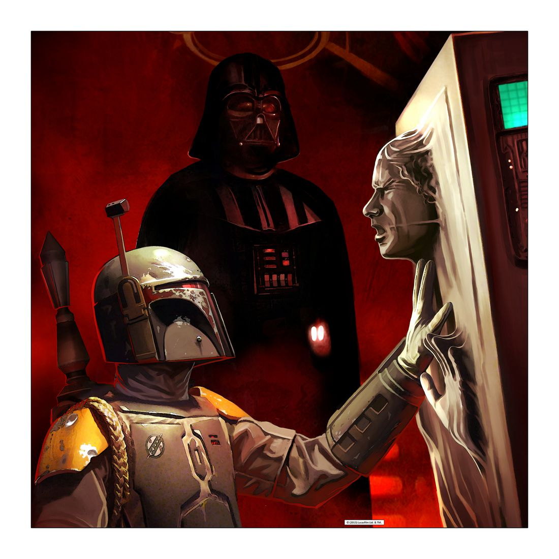 Leinwandbild Darth Vader – Boba Fett & Han Solo – Abmessung 100×50 cm, Gallery of Innovative Art günstig