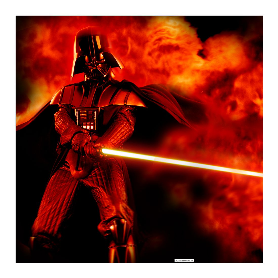 Leinwandbild Darth Vader – Lightsaber Explosion – Abmessung 80×80 cm, Gallery of Innovative Art jetzt bestellen