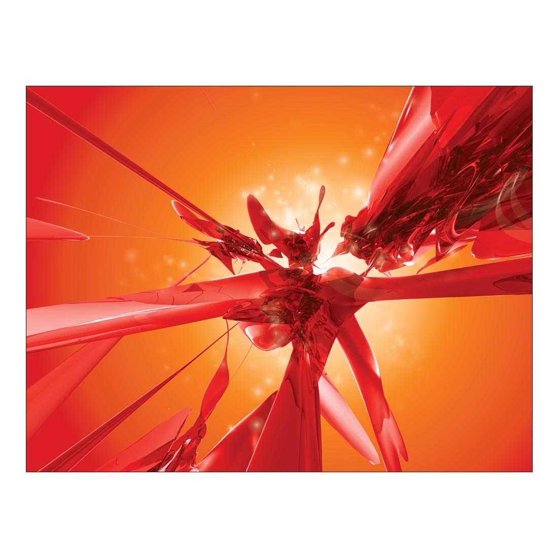 Leinwandbild Design Rot – 100 x 75cm, Gallery of Innovative Art günstig