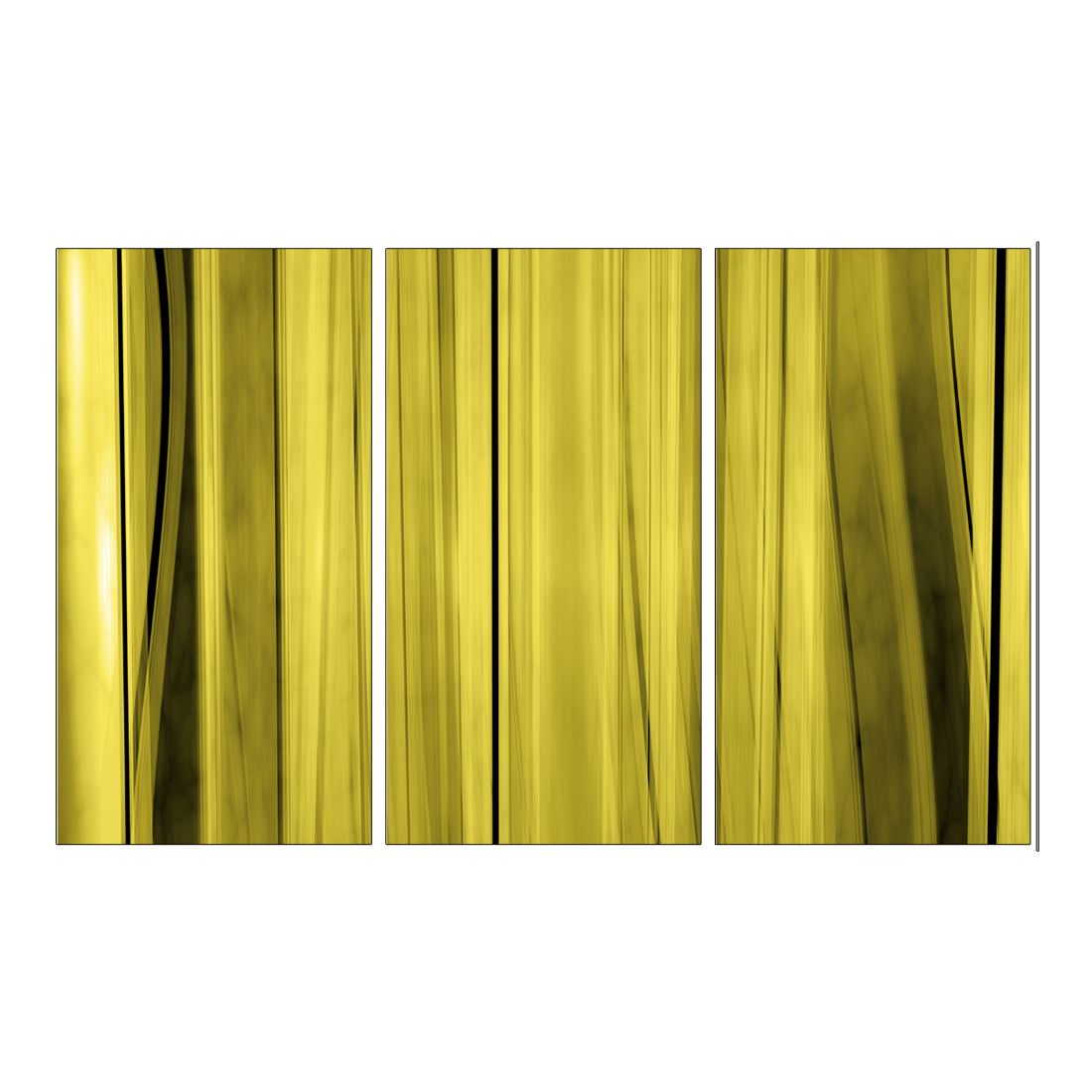 Leinwandbild Gelber Vorhang – 120 x 80cm, Gallery of Innovative Art günstig online kaufen