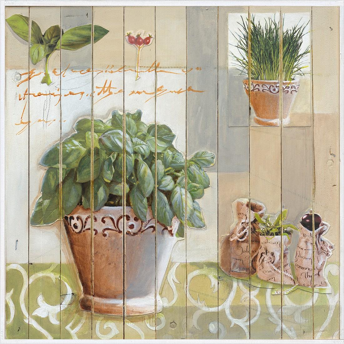 Leinwandbild Kräuterküche II 30×30, Pro Art jetzt bestellen