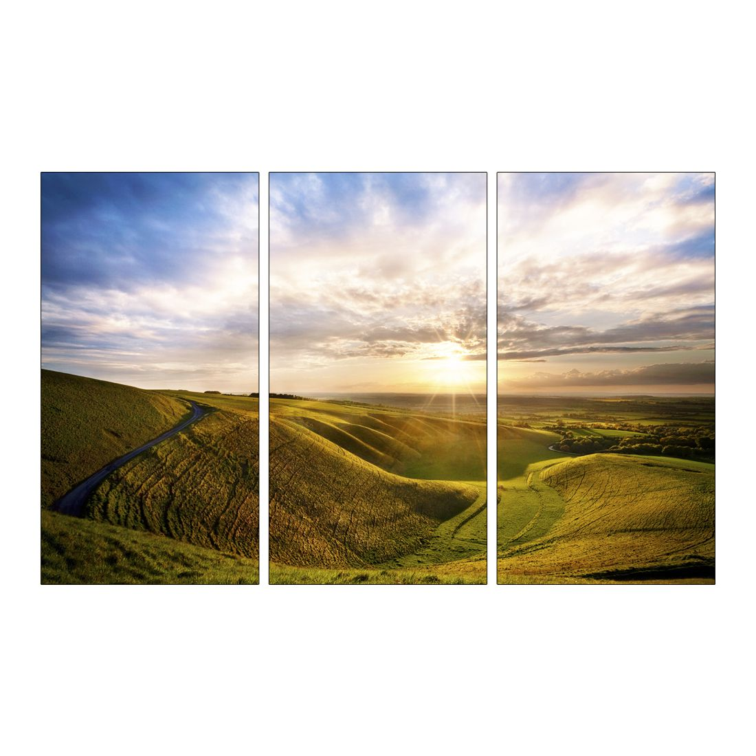 Leinwandbild LOVELY SUNRISE LIGHT  – Abmessung 130 x 80 cm, Gallery of Innovative Art günstig