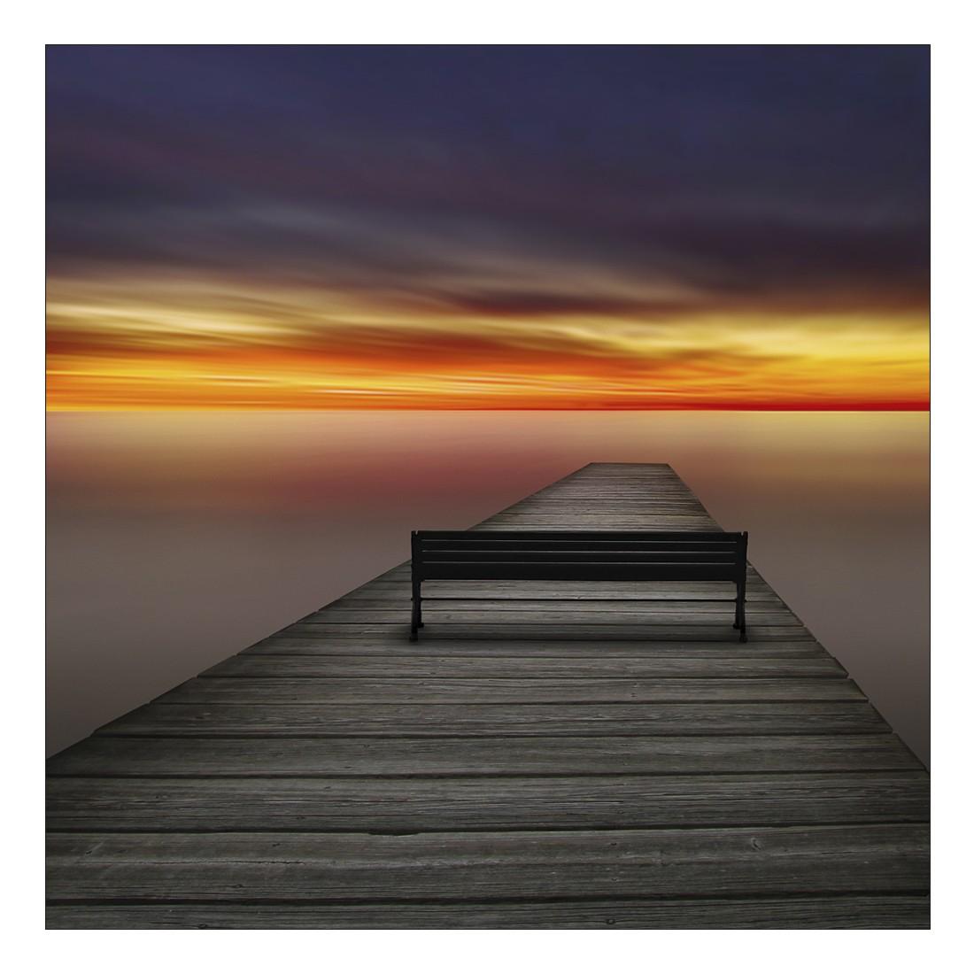 Leinwandbild LOVELY SUNSET PIER BENCH – Abmessung 80 x 80 cm, Gallery of Innovative Art bestellen