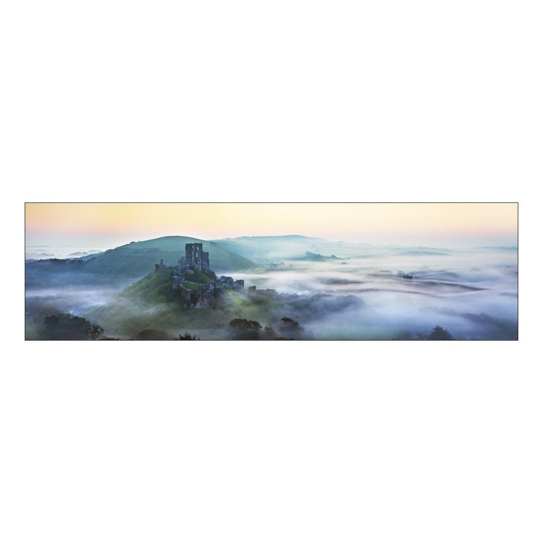 Leinwandbild MISTY MOUNTAIN RUINS – Abmessung 100 x 75 cm, Gallery of Innovative Art günstig bestellen