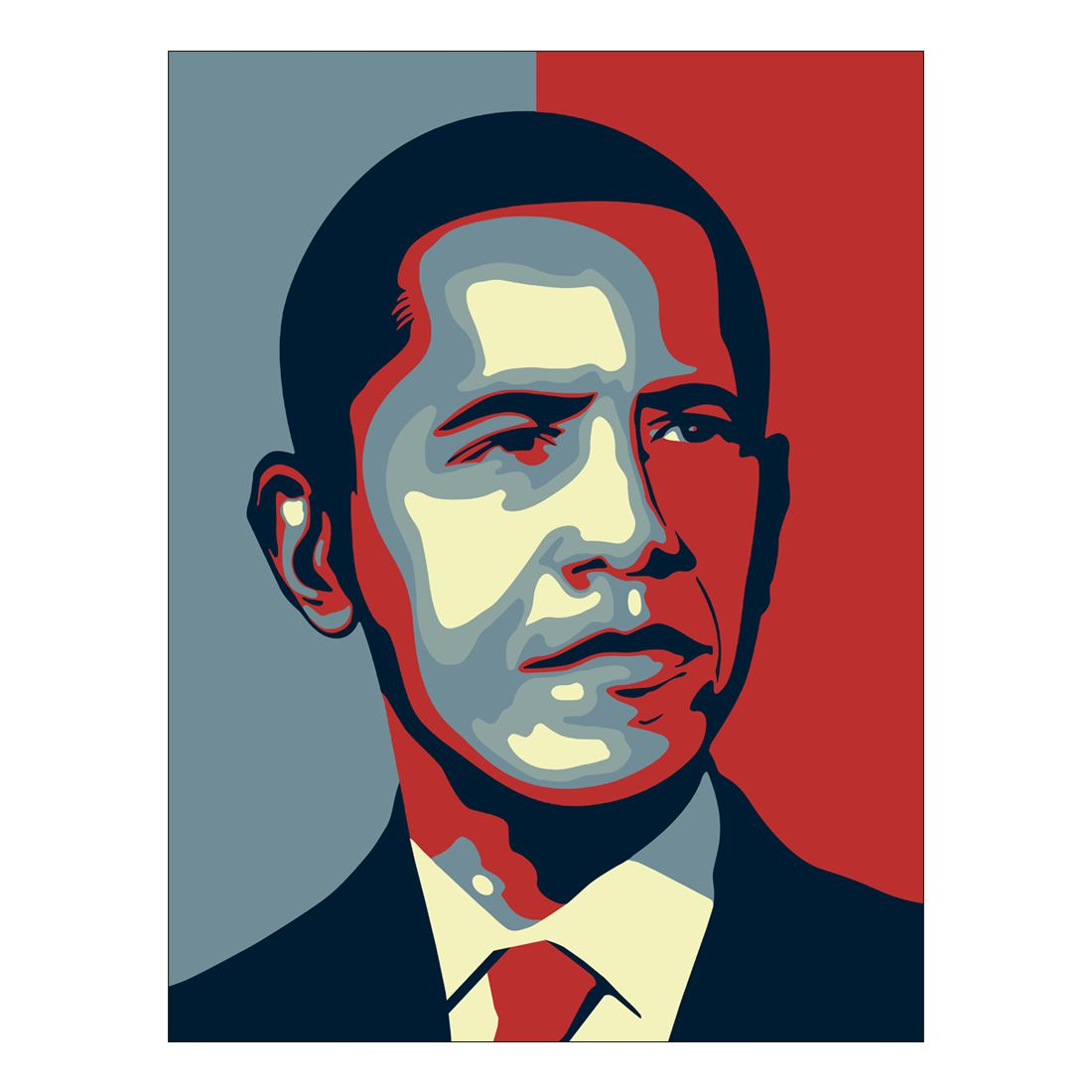 Leinwandbild Obama – 100 x 75cm, Gallery of Innovative Art bestellen
