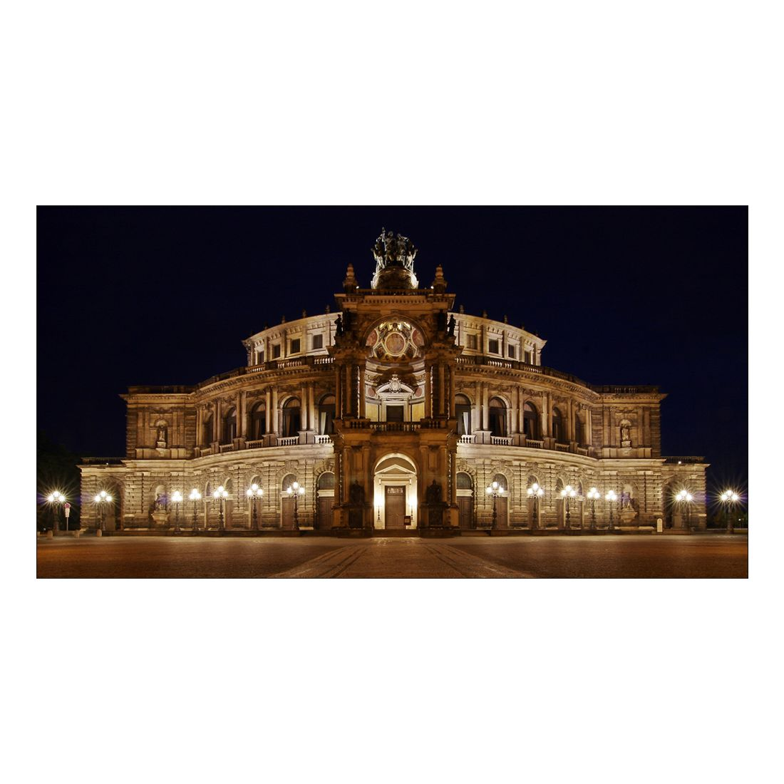 Leinwandbild Oper Dresden – 100 x 50cm, Gallery of Innovative Art kaufen