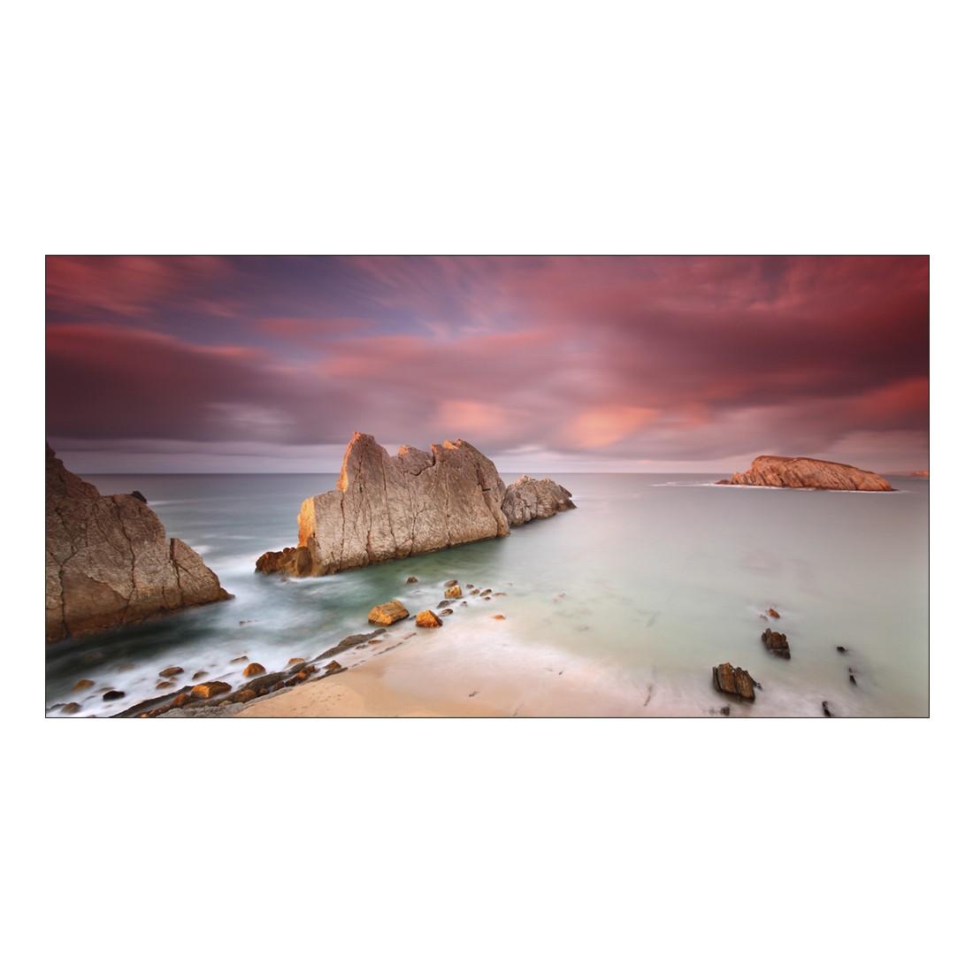 Leinwandbild WHITE ROCK FORMATION AT BEACH – Abmessung 100 x 75 cm, Gallery of Innovative Art kaufen
