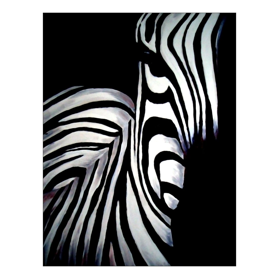 Leinwandbild Zebra – 100 x 75cm, Gallery of Innovative Art jetzt kaufen