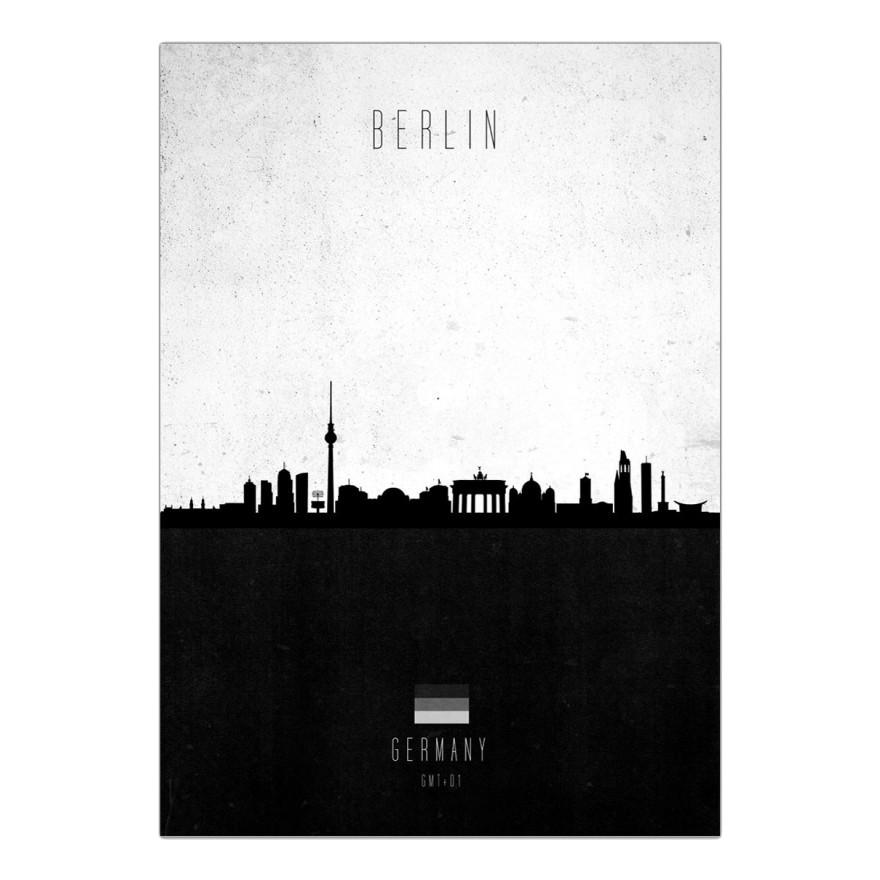 Leinwanddruck Berlin Contemporary Cityscape von Calm The Ham – Größe: A2 (59 x 42 cm), Juniqe günstig online kaufen