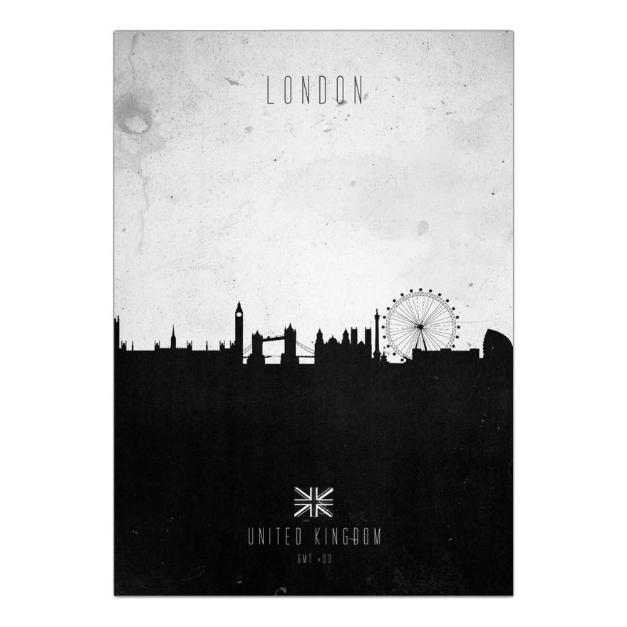 Leinwanddruck London Contemporary Cityscape von Calm The Ham – Größe: A4 (30 x 21 cm), Juniqe günstig bestellen