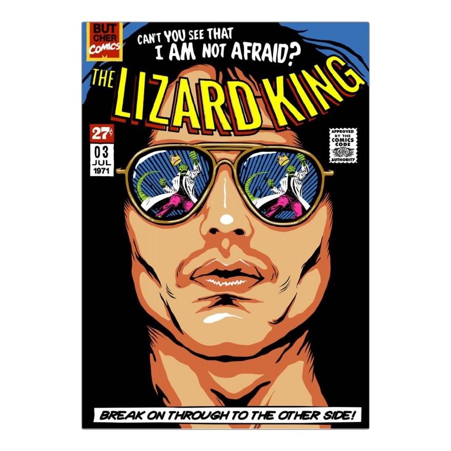 Leinwanddruck The Lizard King von Butcher Billy – Größe: A5 (21 x 15 cm), Juniqe kaufen