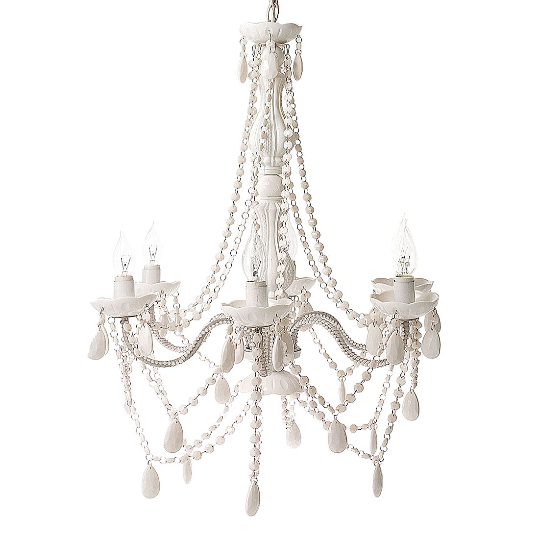 Leuchte Chandelier Gypsy  6 Arme  - Weiss, SILLY