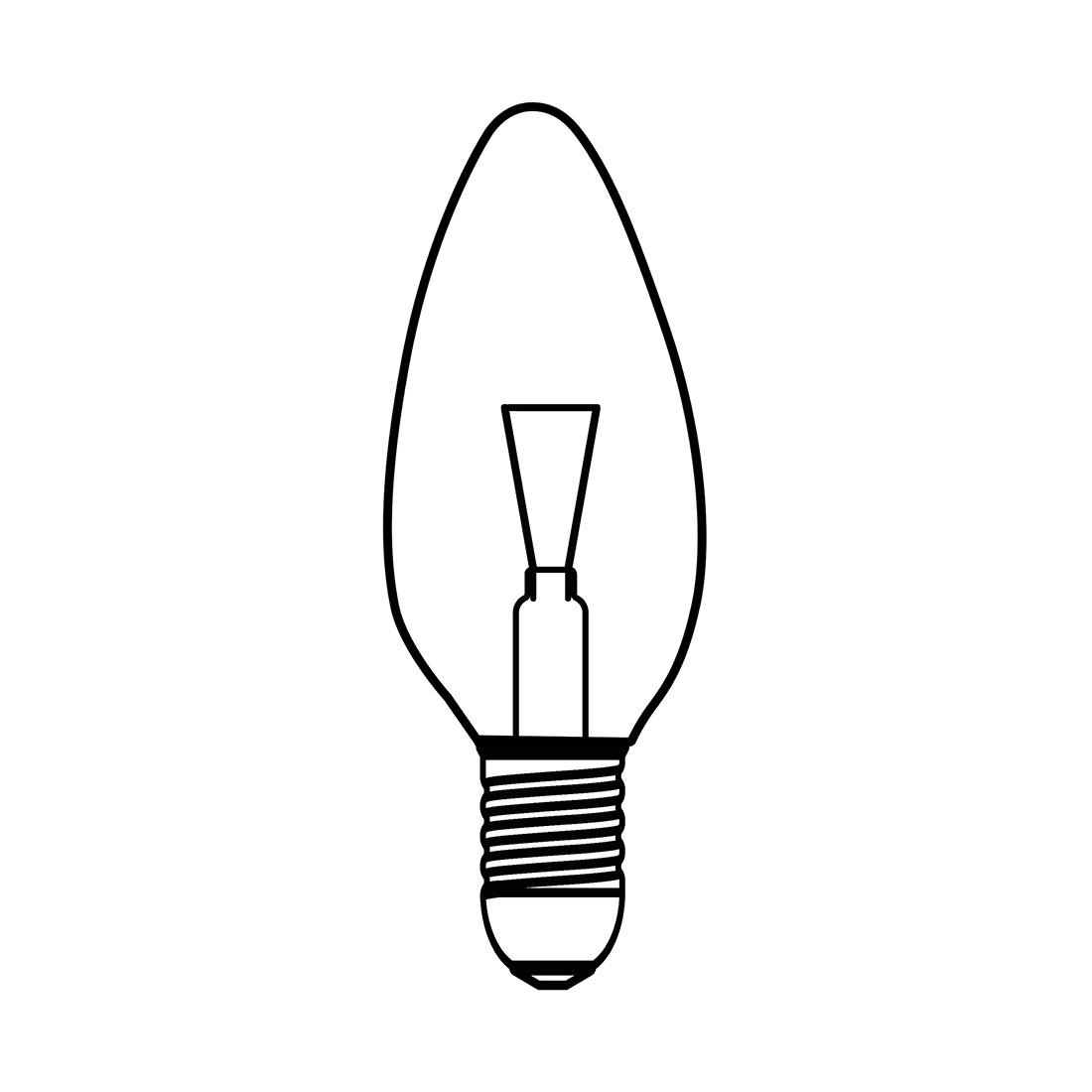 Leuchtmittel Halogenkerzenlampe ● 1-flammig- Koziol