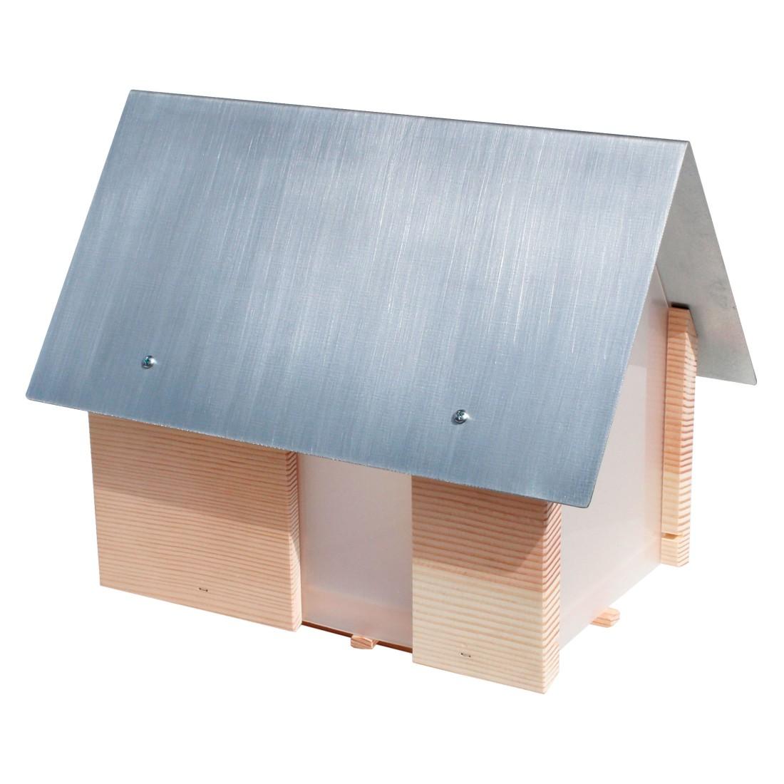 windlicht lichthaus mit stab holz natur designimdorf online bestellen. Black Bedroom Furniture Sets. Home Design Ideas