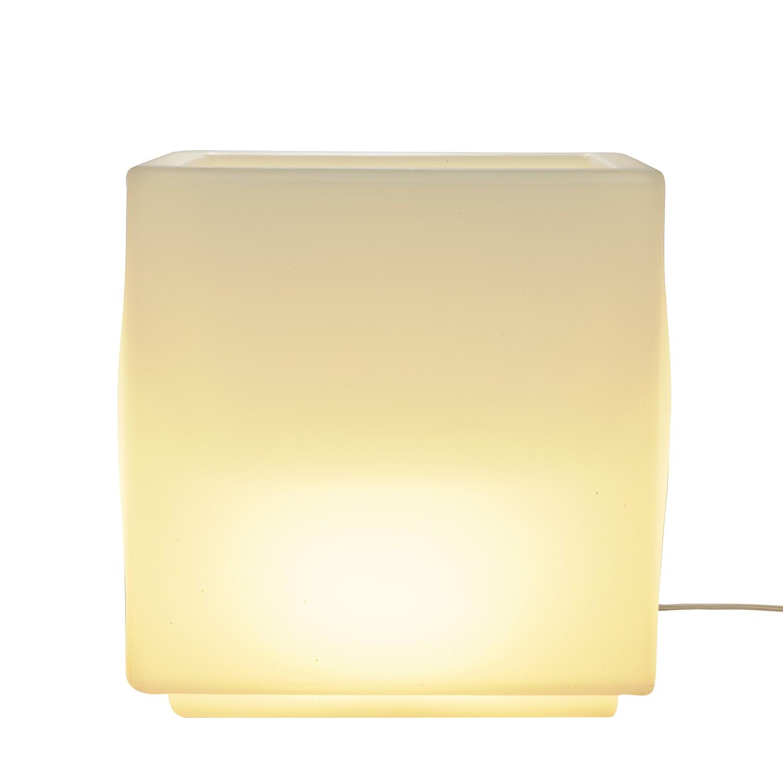Lichtwürfel lux-us ● Polyethylenkunststoff ● Weiß- Klein und More