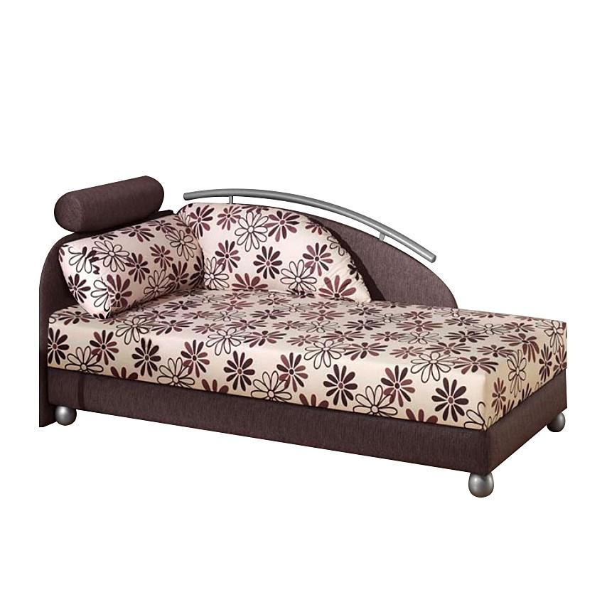 Polsterbett Springfield – Stoff Aubergine/Braun – Liegefläche: 90 x 200 cm – Comfort (Federkern-Festpolster) – Kopfteil links, Monaco jetzt kaufen