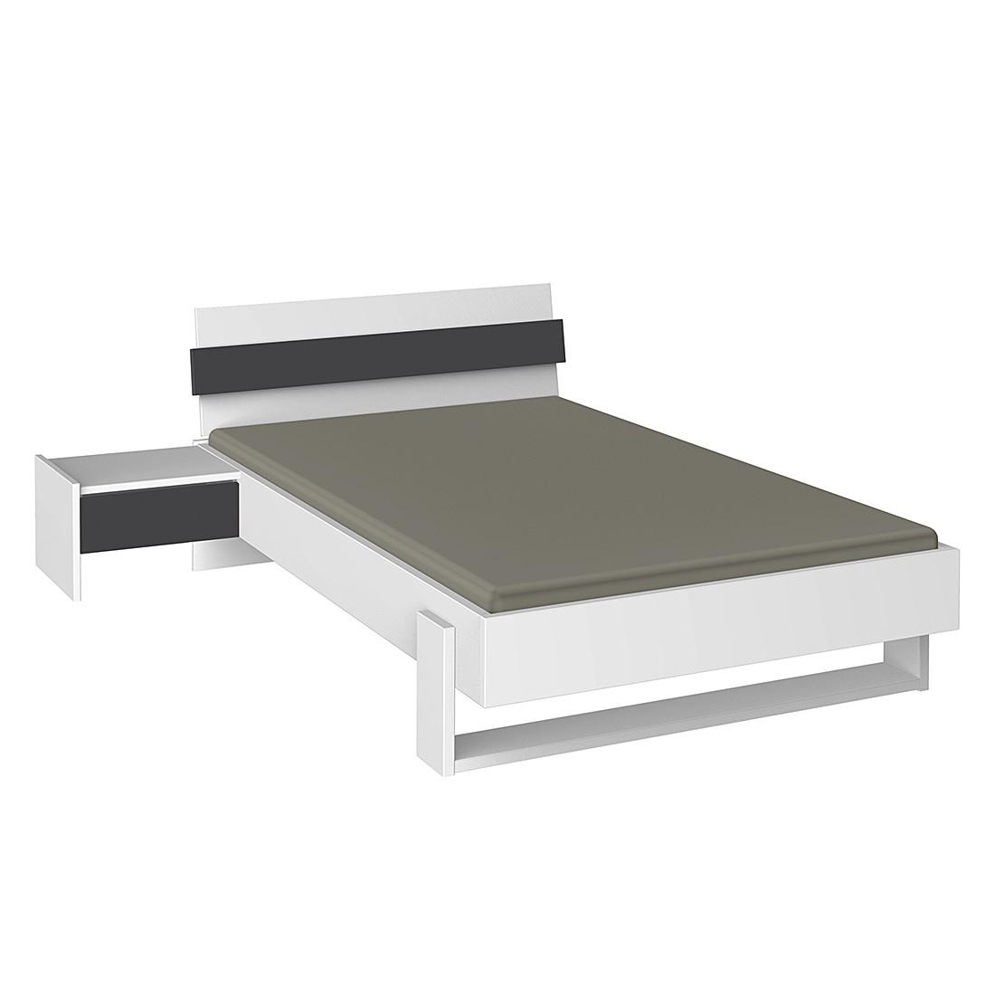 jugendbett 100 x 200 cm wei. Black Bedroom Furniture Sets. Home Design Ideas