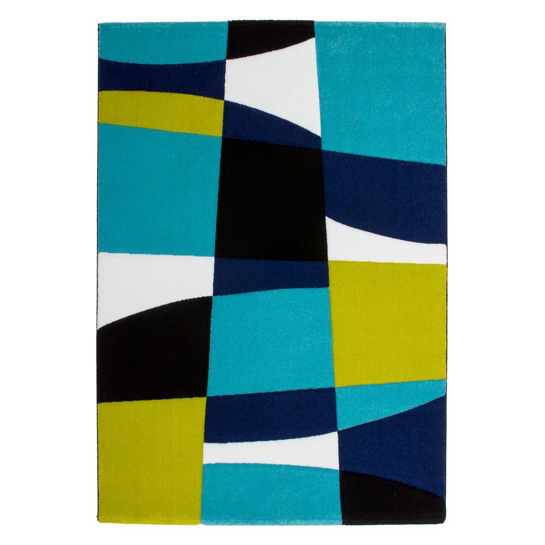 Teppich Lifestyle – Schwarz/Aqua – 160 x 230 cm, Obsession online kaufen