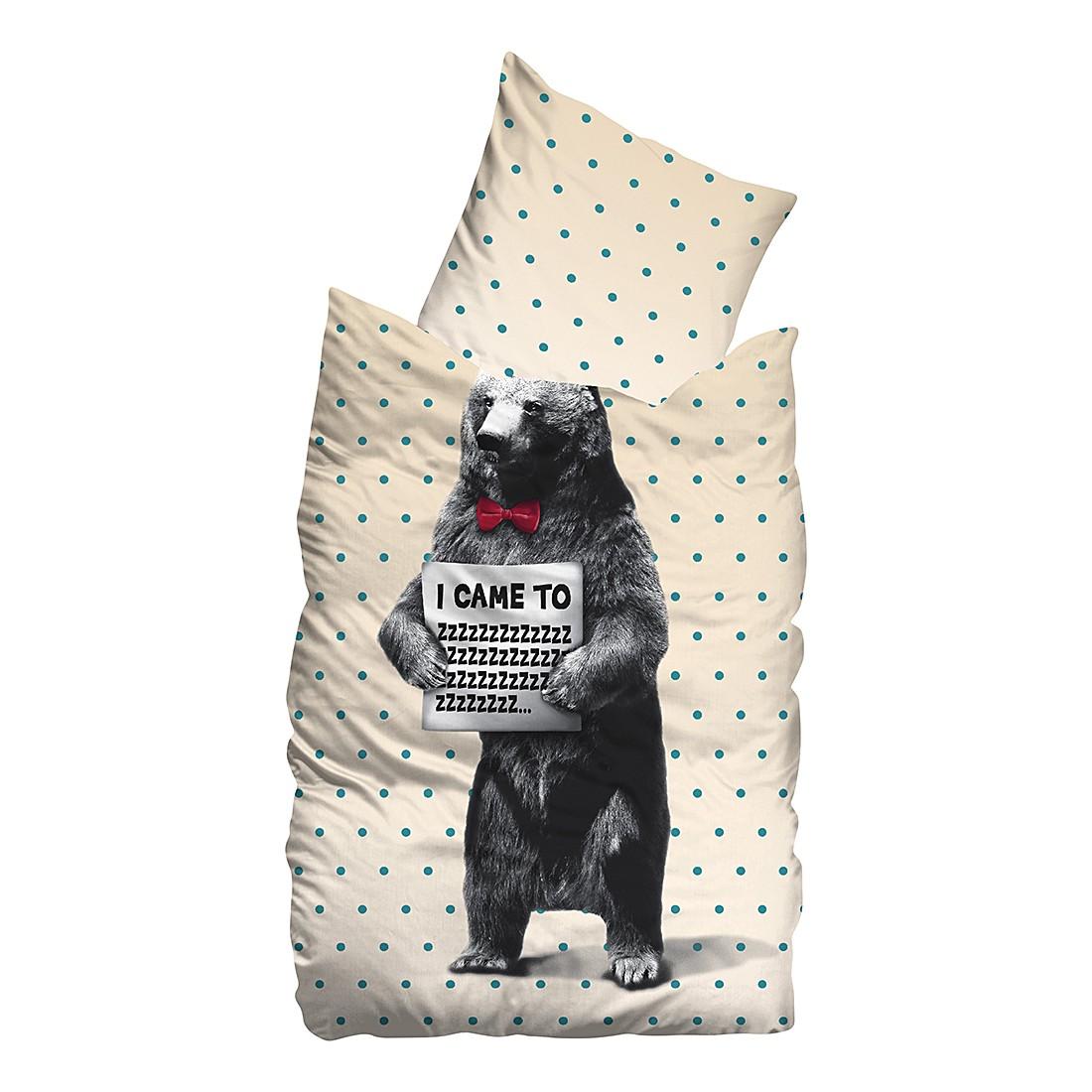 Linon Bettwäsche Ruben – Beige – 155 x 220 cm + Kissen 80 x 80 cm, Sueños jetzt bestellen