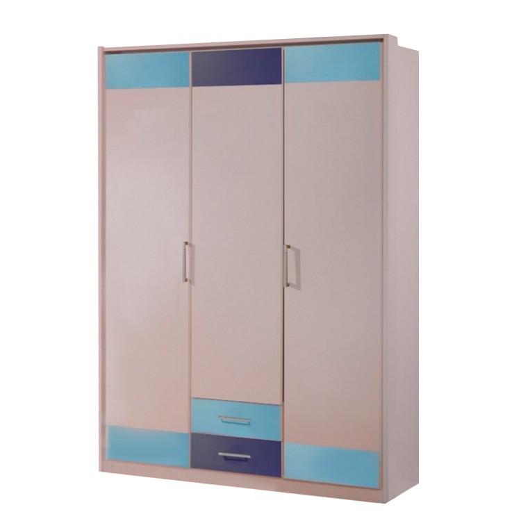 kleiderschrank liss absetzungen in iceblau marineblau 2 t rig. Black Bedroom Furniture Sets. Home Design Ideas