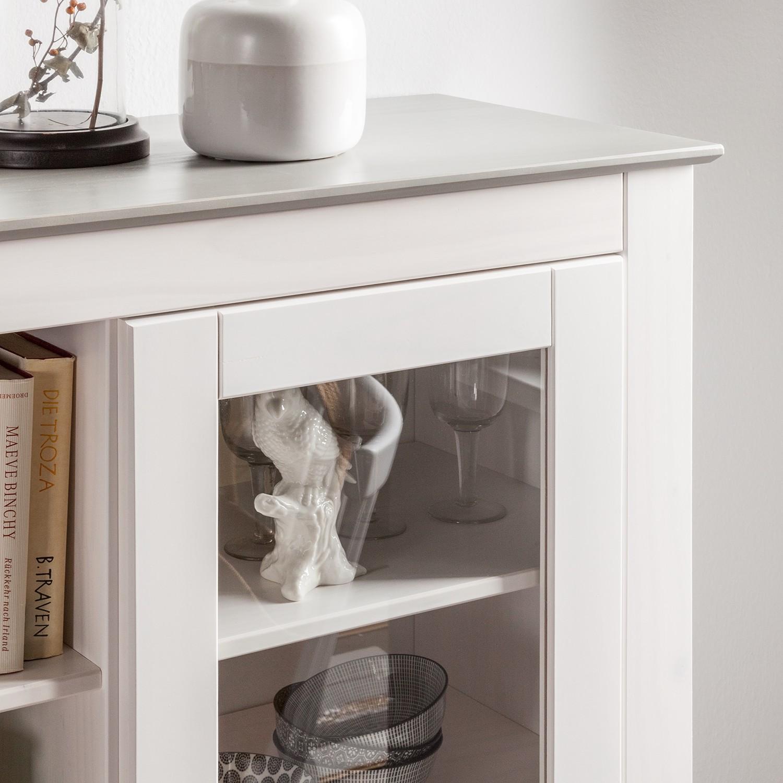 highboard neely wei grau kommode sideboard anrichte schrank hochschrank. Black Bedroom Furniture Sets. Home Design Ideas